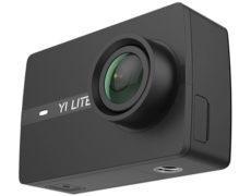 YI Lite Action Cam leicht seitlich von vorne