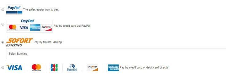 Zahlungsmethoden bei GearBest