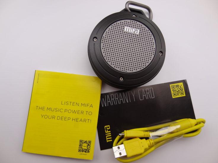 MIFA F10 Outdoor Bluetooth Speaker Inhalt