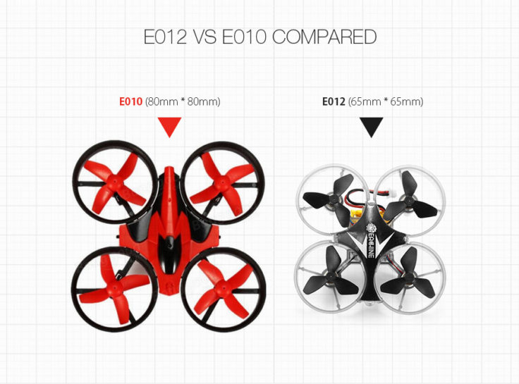 Eachine E012 Mini Drohne Größenvergleich