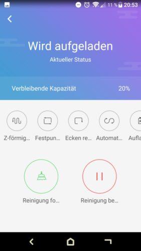 Haier XShuai T370 Saugroboter App Aufladen