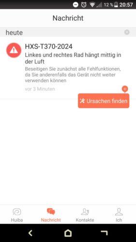 Haier XShuai T370 Saugroboter App Fehlermeldungen