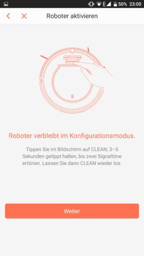 Haier XShuai T370 Saugroboter App Konfigurationsmodus