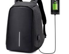 Anti-Diebstahl Rucksack mit USB Kabel