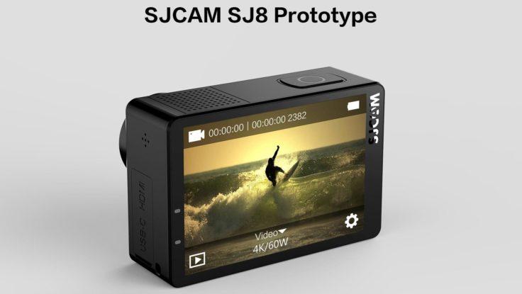 SJCAM SJ8 Ansicht auf Display
