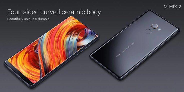 Xiaomi Mi Mix 2 Front- und Rückseite