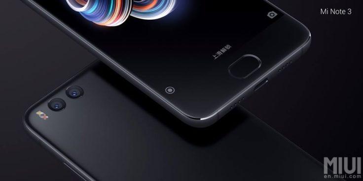 Xiaomi Mi Note 3 Dual Kamera & Fingerabdrucksensor