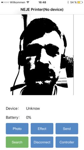 NEJE DK-BL1500 Laser-Engraver Selfie