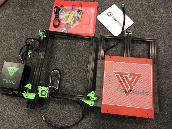 Zwei Teile 3D-Drucker