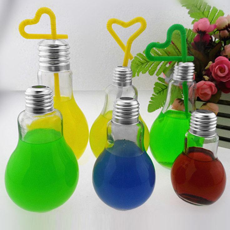 Glühbirnen Trinkglas