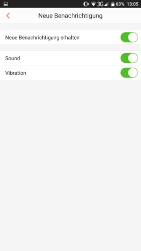 Haier XShuai HXS-C3 Saugroboter App Benachrichtigungen