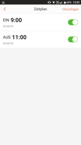 Haier XShuai HXS-C3 Saugroboter App Zeitplan