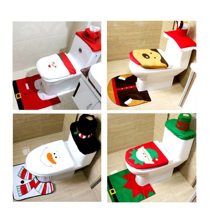 Weihnachts-Toilettenbezug