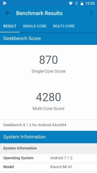 Xiaomi Mi A1 Geekbench