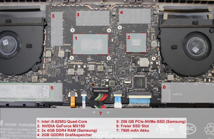 Xiaomi Mi Notebook Pro Hardware