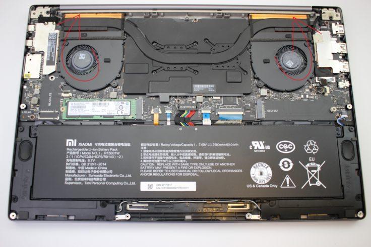 Xiaomi Mi Notebook Pro Rückseite ohne Case