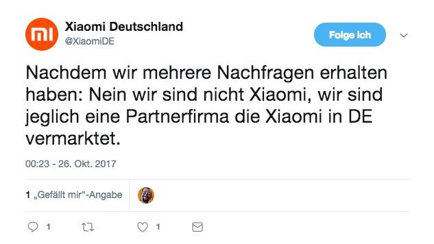 Xiaomi Mi Store Deutschland Eröffnung Tweet