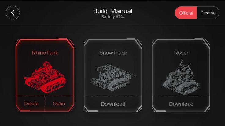 Xiaomi Mitu Rover App Modelle