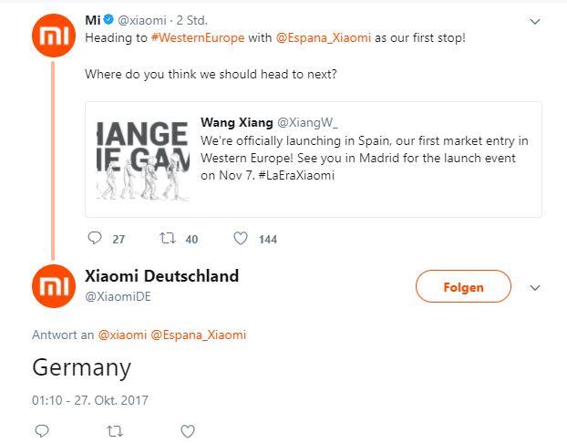 Xiaomi Spanien Xiaomi Germany