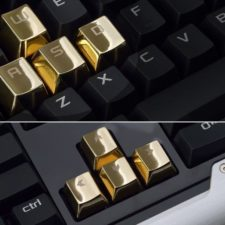goldene Tasten Gaming Tastatur