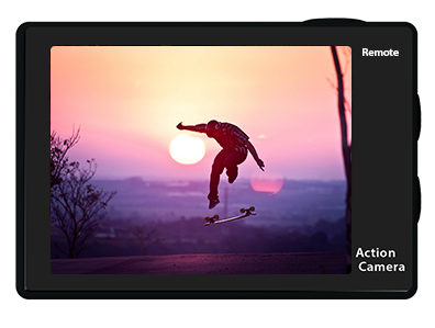 Eken H9R Action Cam Display
