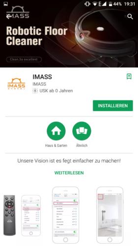 IMASS A3S Saugroboter App Download