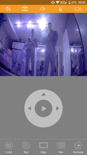 IMASS A3S Saugroboter App Kamerasicht