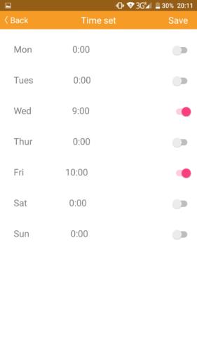 IMASS A3S Saugroboter App Zeitplanung
