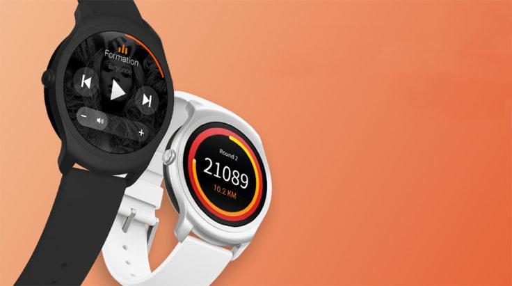 Ticwatch 2 Smartwatch Schwarz und Weiß