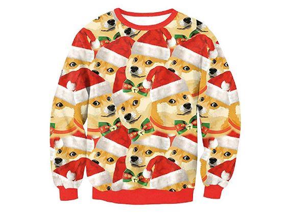 Weihnachtspullover Doge