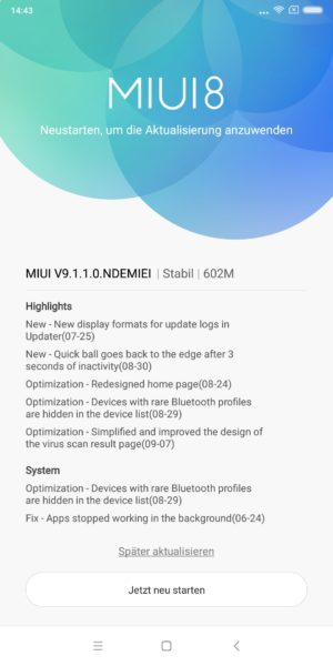 Xiaomi Mi Mix 2 MIUI 9