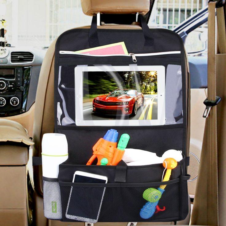 Autositzschutz- und Organizer im Auto