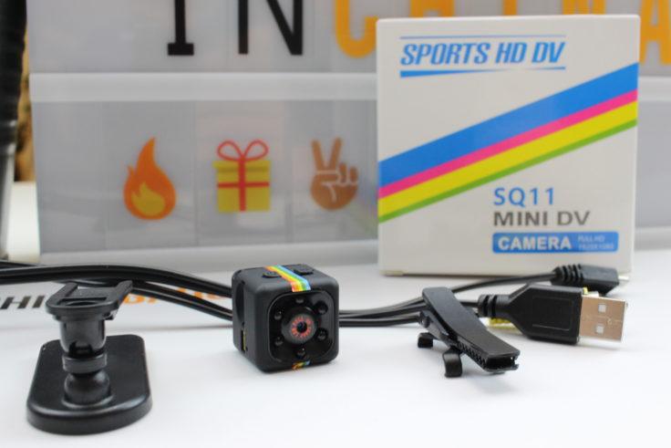 Quelima SQ 11 Mini Kamera Lieferumfang