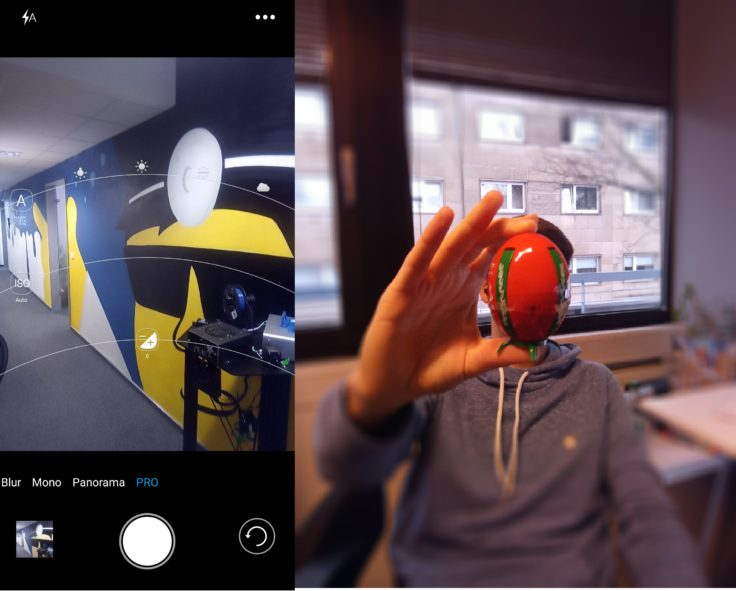 Vernee Mix 2 Kamera App & Blur Effekt