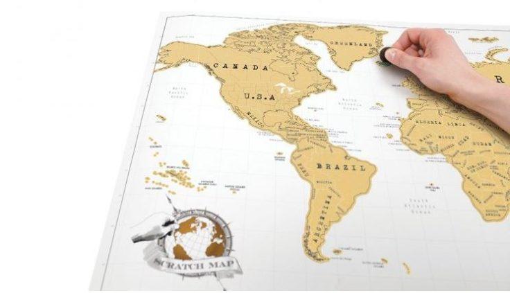 Weltkarte zum Freirubbeln Funktion