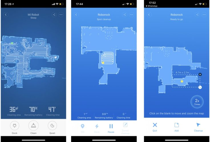 Xiaomi RoboRock Sweep One Saugroboter Raumvermessung Raumeinteilung