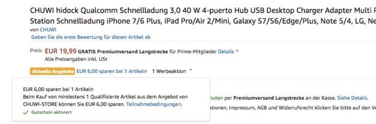 CHUWI Hi Dock Amazon Gutschein
