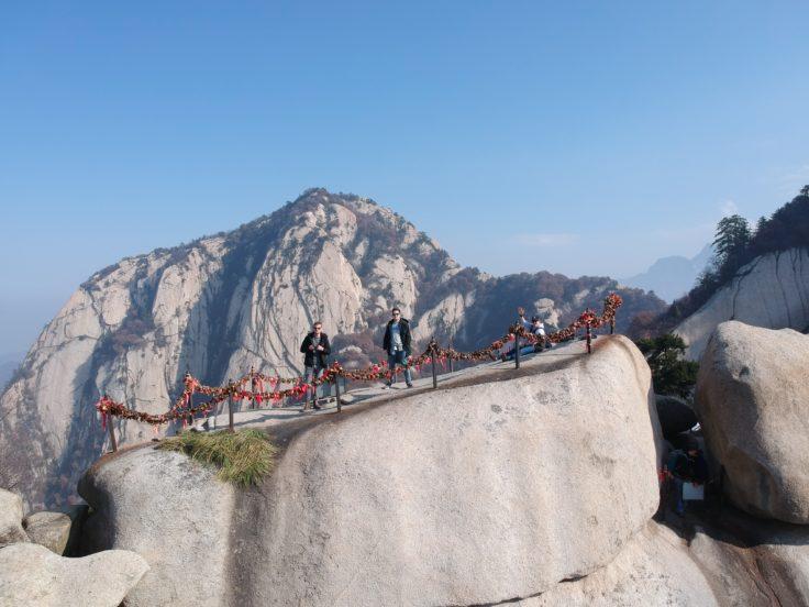 DJI Spark Drohne Selfie Gebirge China