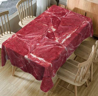 Fleisch-Tischdecke