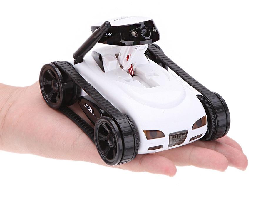 rc fahrzeug mit kettenantrieb und beweglicher kamera. Black Bedroom Furniture Sets. Home Design Ideas