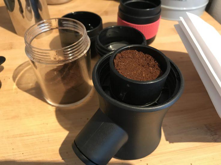 Portable Espressomaschine Kaffepulver
