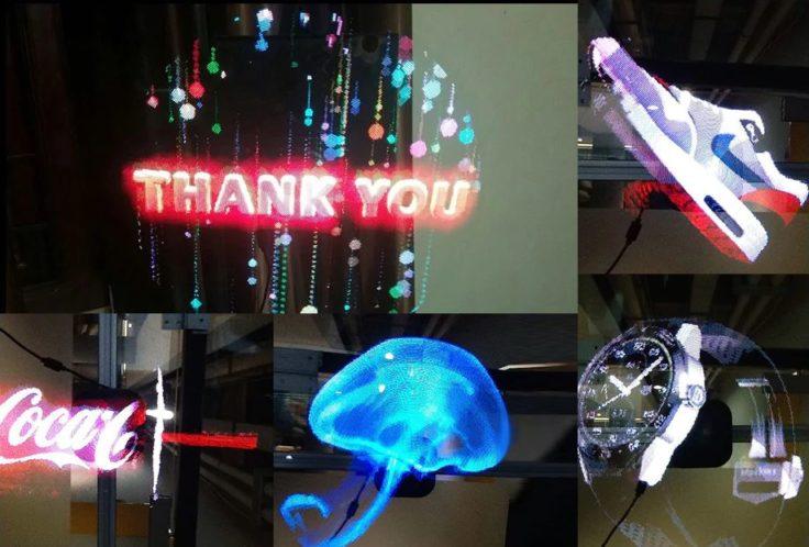 hologramm projektor beispiele