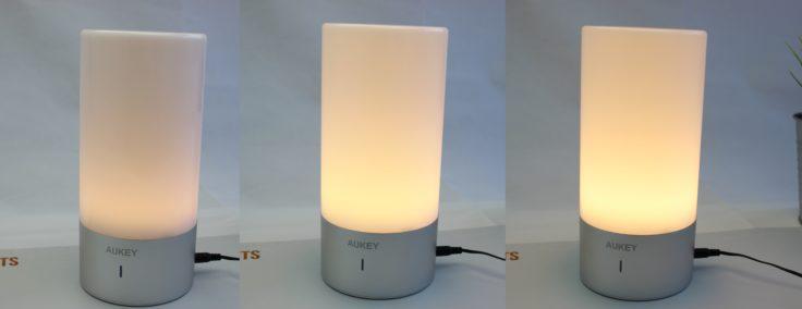 Aukey Nachttischlampe Helligkeitsstufen