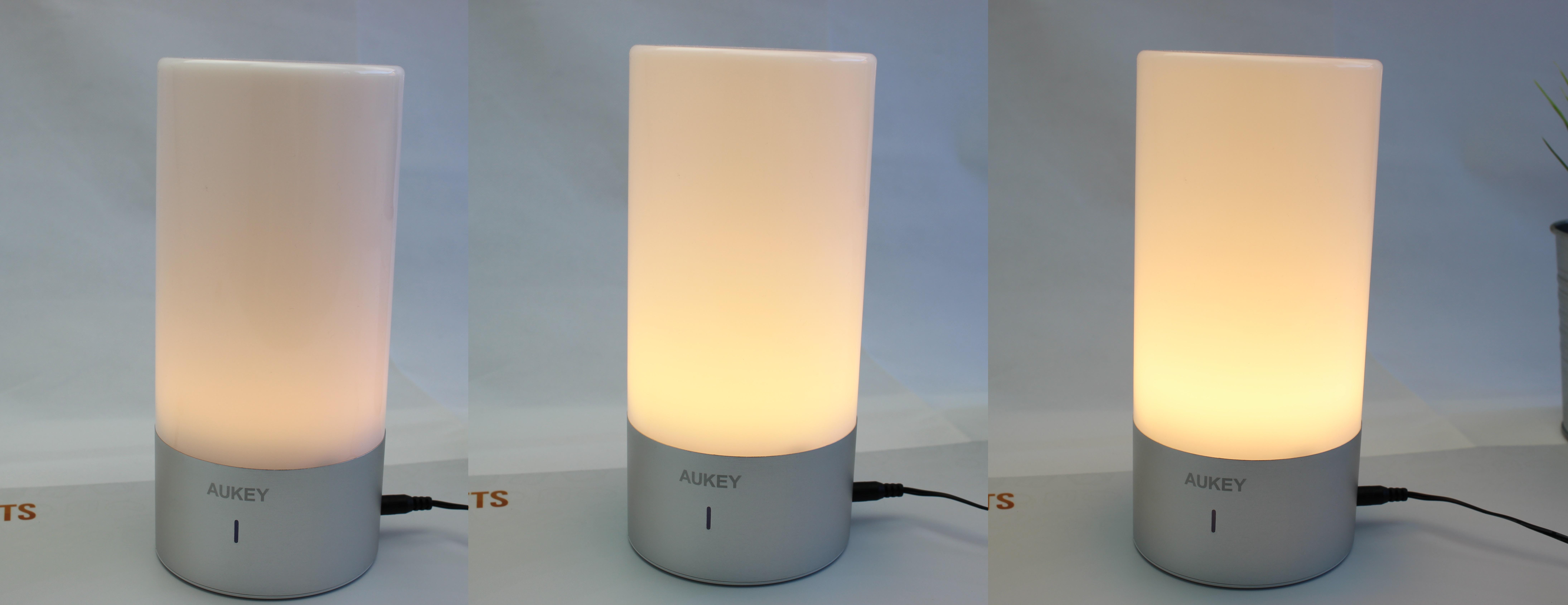 aukey nachttischlampe lt t6 mit rgb modus und drei. Black Bedroom Furniture Sets. Home Design Ideas