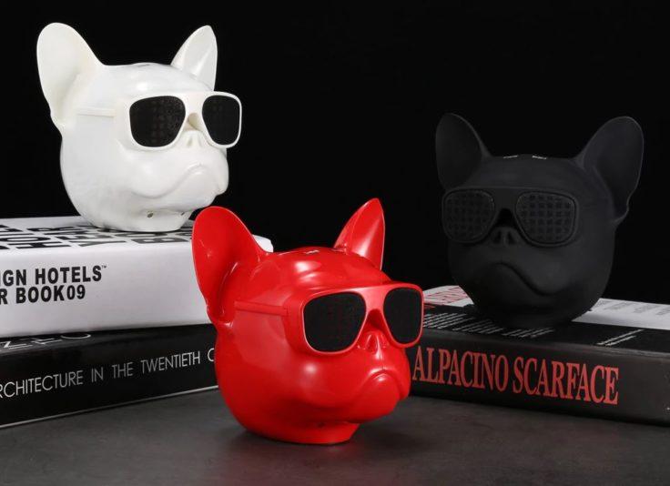 Bluetooth Speaker Subwoofer rot schwarz weiß