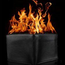 Brenndes Portmonee Fire Wallet