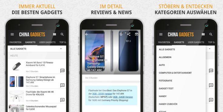 China-Gadgets Android App Screenshots