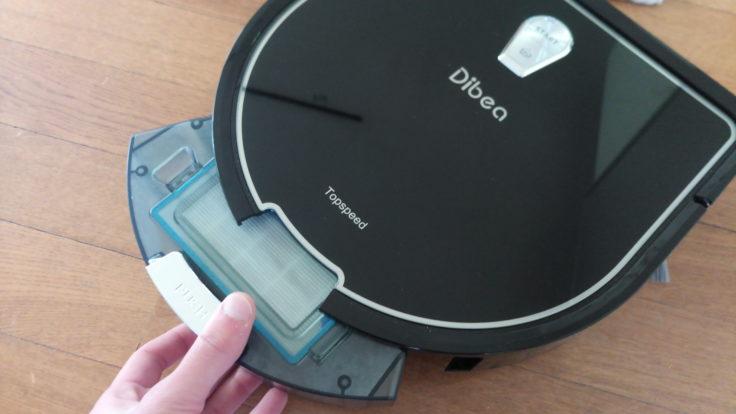 Dibea D960 Saugroboter Staubkammer Entnahme