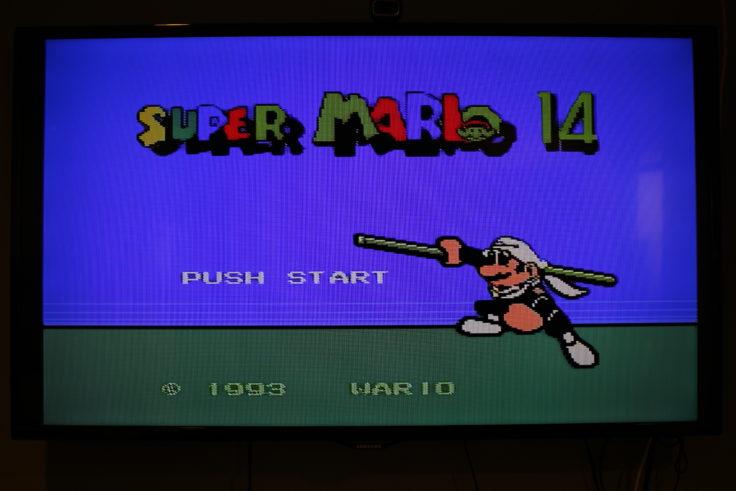 Entertainment System NES Klon Fake Super Mario 14
