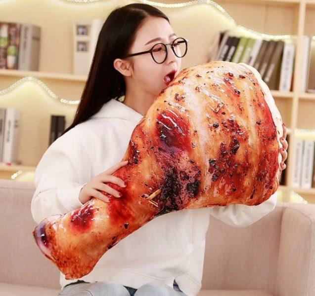 Hähnschenkel-Kissen gegrillt Werbung